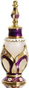 Waltz&F Purple Pattern Vintage Refillable Perfume Bottle