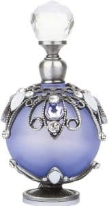 YUFENG Restoring Ancient Ways Hollow-Out Rattan Flower Perfume Bottles Empty Refillable (Purple)